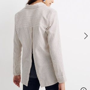 Madewell Flannel Ex-Boyfriend Button-Back Shirt